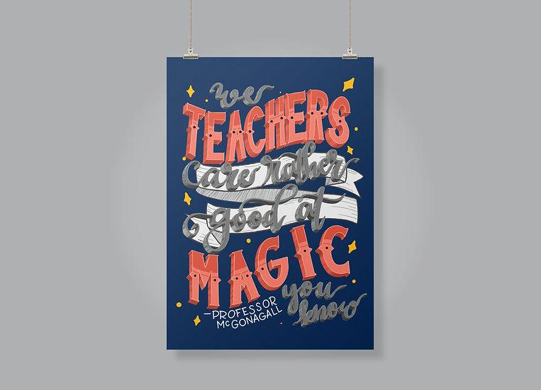 Harry Potter - Professor McGonagall quote Print