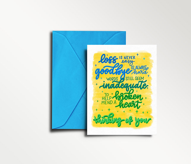 Thinking of You-Sympathy Card