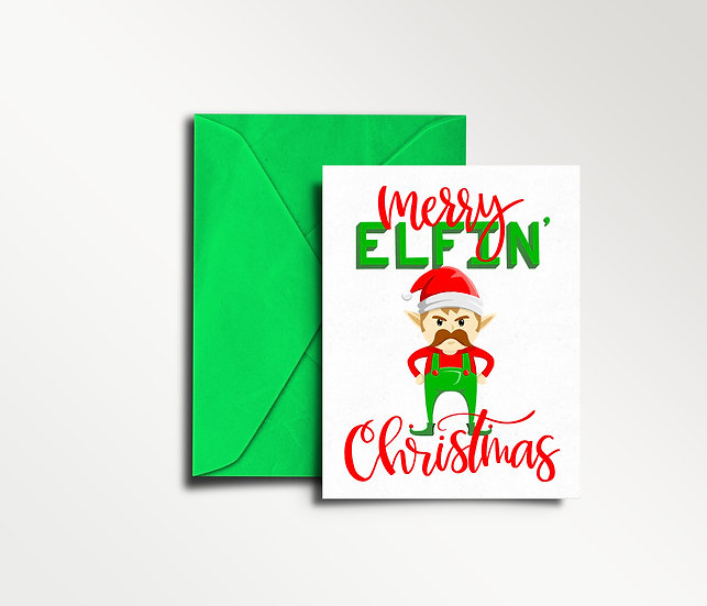 Merry Elfin' Christmas - Christmas Card