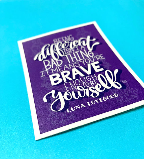 Harry Potter-Luna Lovegood Quote Sticker
