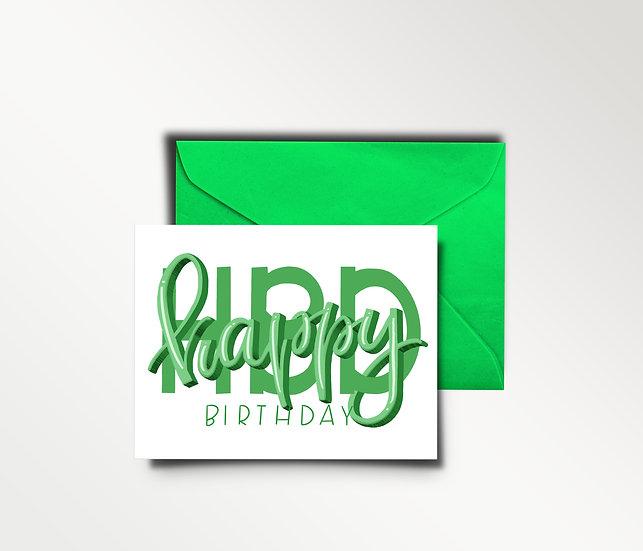 Happy Birthday (HBD) Card
