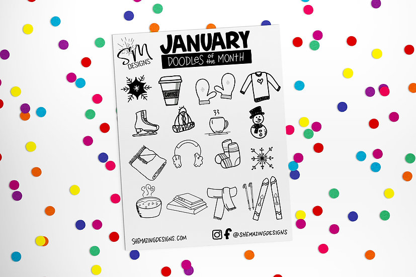 Doodle of the Month-January 2021