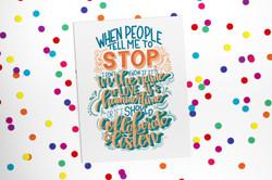 Stop, Collaborate, Listen