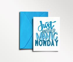 Manic Momday Card