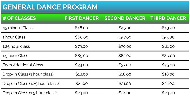 Captivation Dance Studio Henderson Nevada Tuition