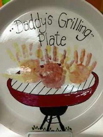 Hand Print Grilling Platter