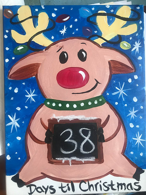 11/27 Kids Drop Off Canvas Countdown Painting