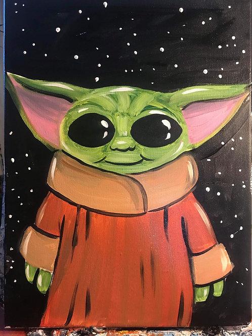 11/3 Kids Drop off Alien Canvas Painting