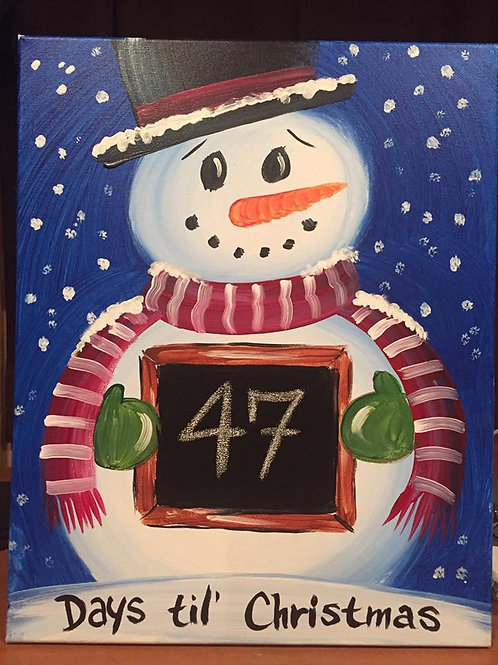 12/4 Snowman Countdown Canvas