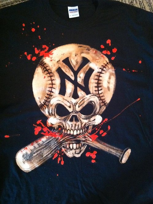 NY Yankees Bleached Tee