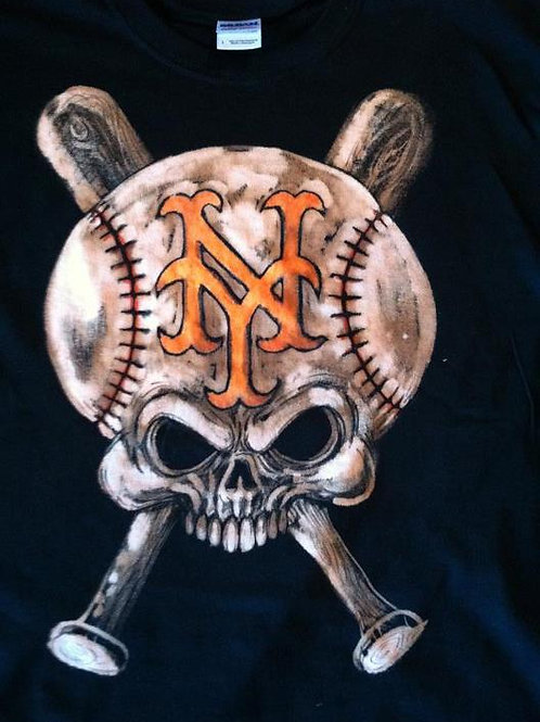 NY Mets Bleached Tee