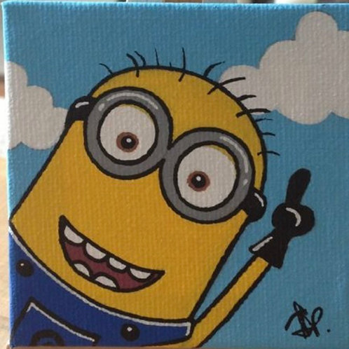 2/17 Kids Drop Off Minions Canvas Painting