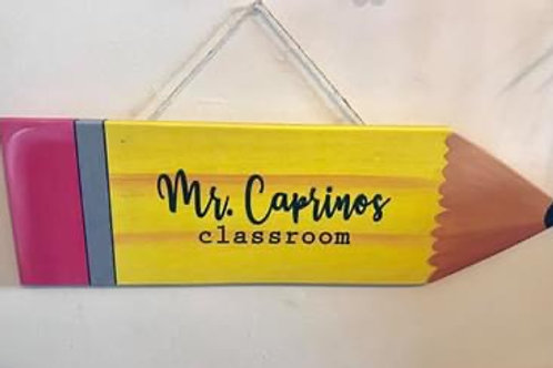 Personalized Classroom Sign
