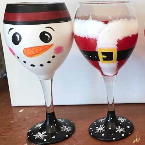 12/12 Holiday Wine Glass Painting