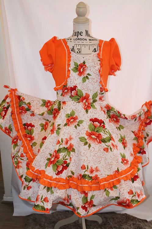 Vestido en Naranjo