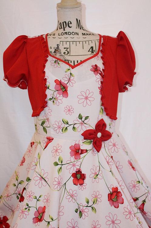 Vestido de huasa Floreado