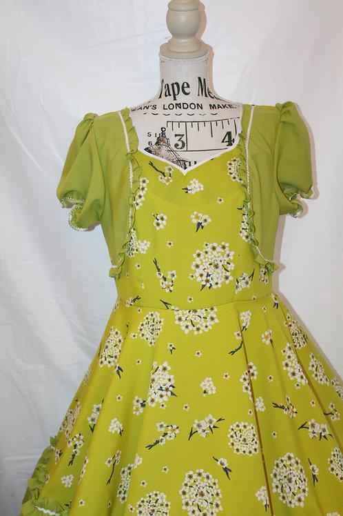 Vestido de Huasa Verde