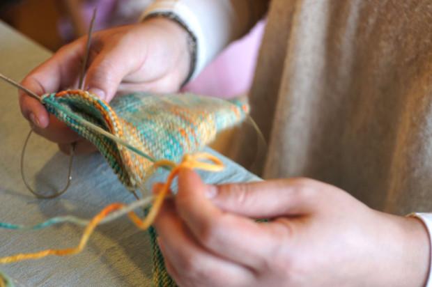 靴下編みのWS開催しました。