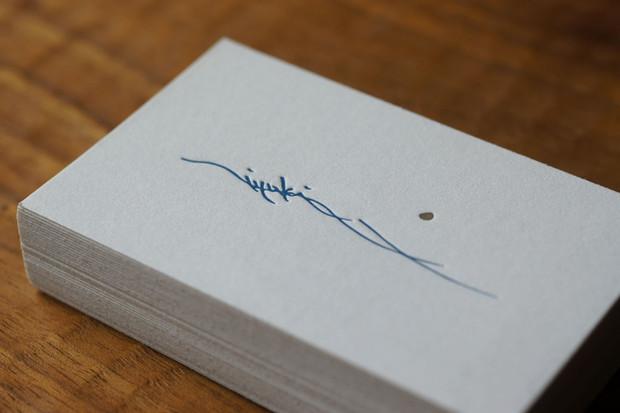 studio-lunaさまの活版名刺