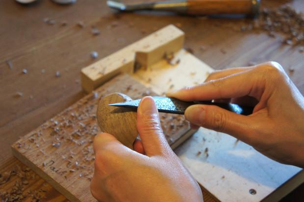 今週は木工教室です。