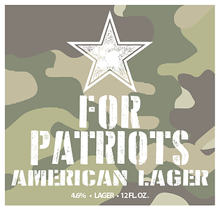 For Patriots American Lager
