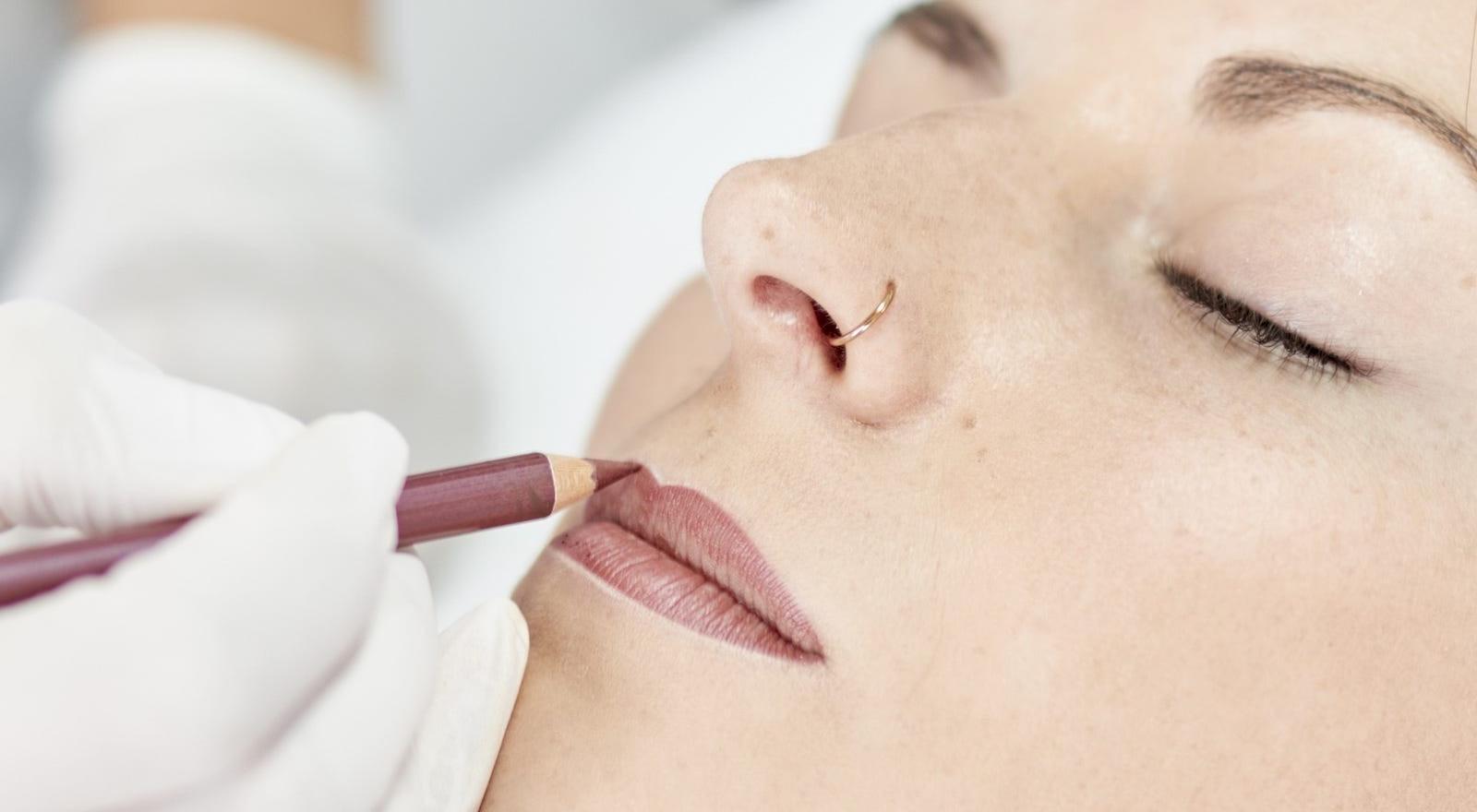 Vorzeichnung der Lippen
