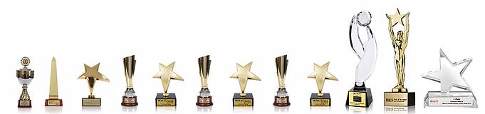 Long Time Liner Permanent Maeke up Award Pokale in einer Reihe