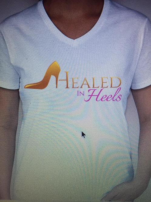 Healed In Heels Logo Tee