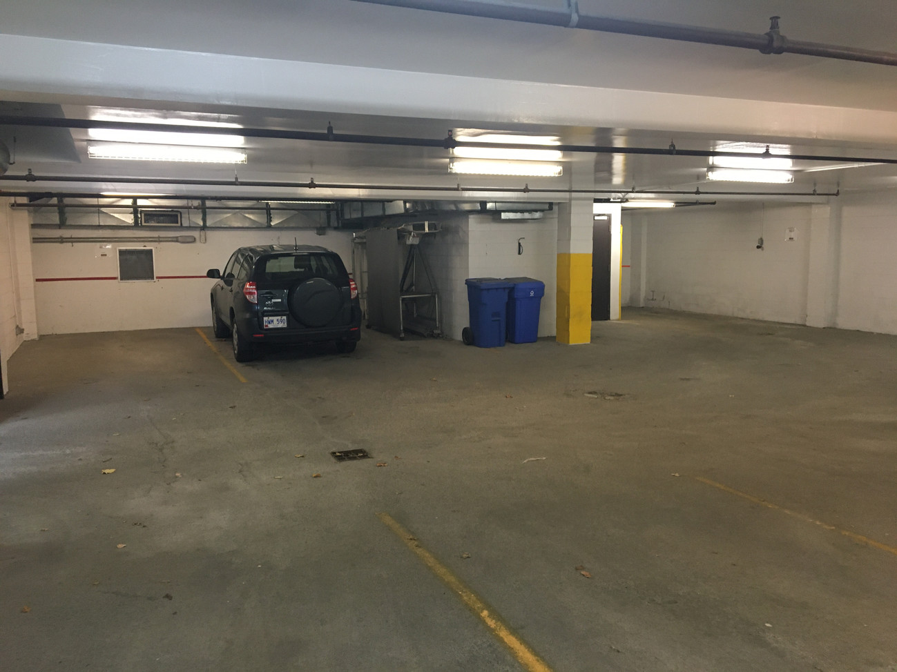 Interior Parking Spaces