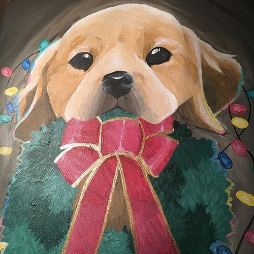 Lil Christmas puppy! Find him and more h