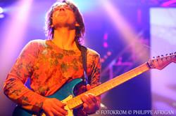 Photo de concert, guitare, éclairage, lumière