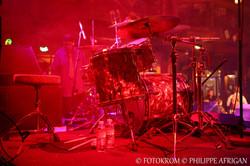 Photo de concert, batterie, éclairage, lumière