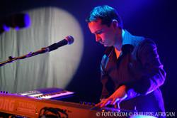 Photo de concert, piano, clavier, éclairage, lumière