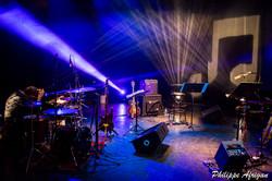 concert, musiciens, chanteurs, instruments, lumière