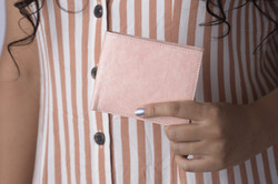 Pink Stitched Wallet