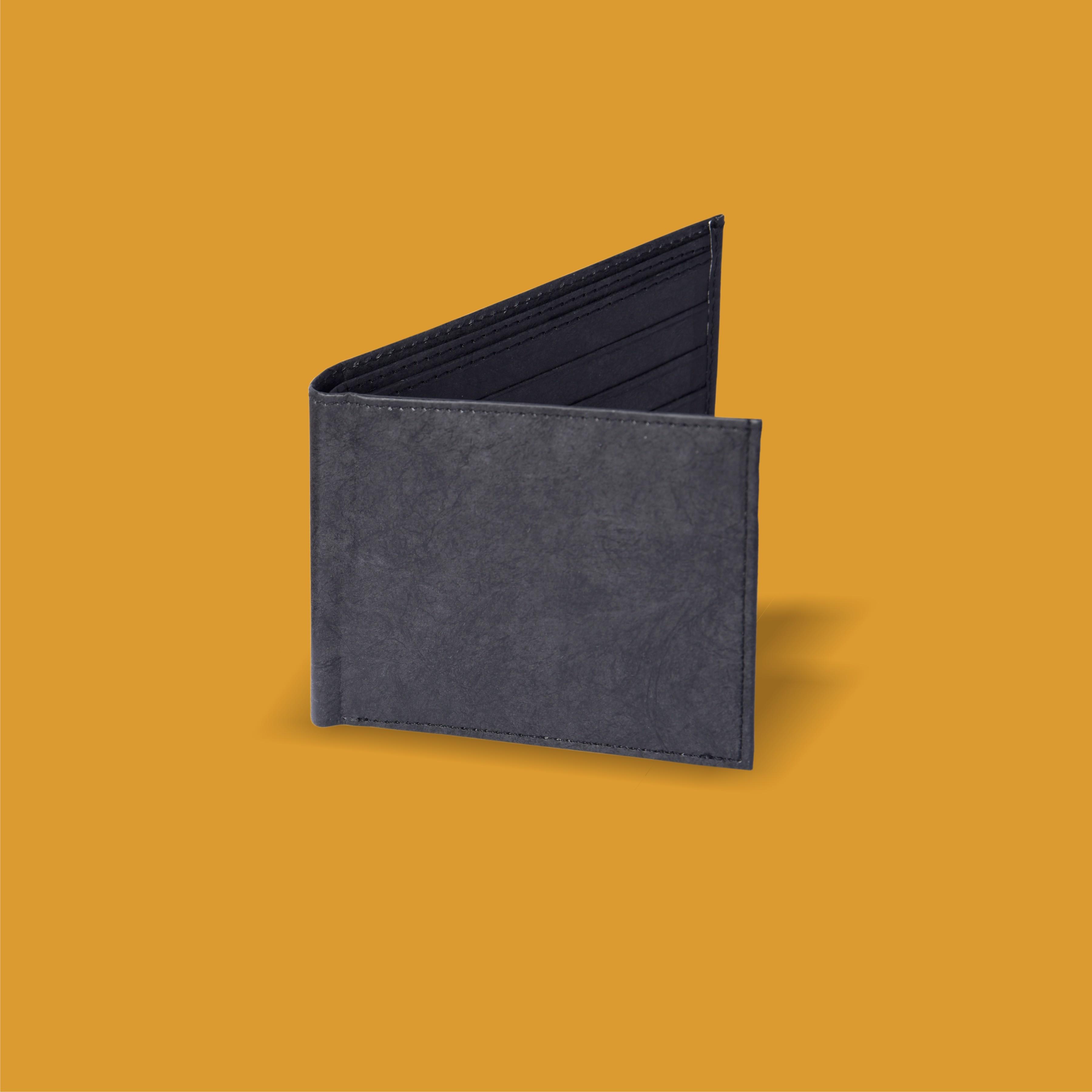 Black Stitched Wallet