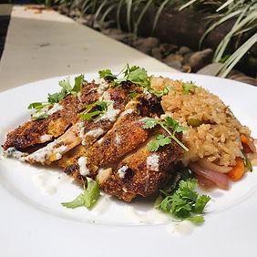 Bulaccino Cafe Fiji Dukkah chicken special