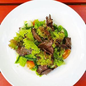 Bulaccino Thai Beef salad. Fiji Cafe