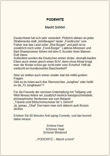 Podewitz Pressetext Macht Schön