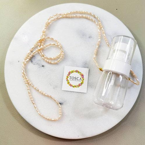 Hand Sanitizer Necklace (Blush)