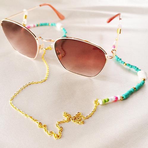 Mask Lanyard/Eyeglass Holder (Pink & Teal)