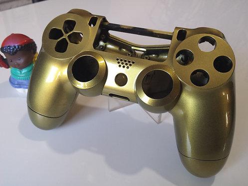 Coque Manette PS4 Custom à l'aérographe !!! Dualshock 4 Or nacré
