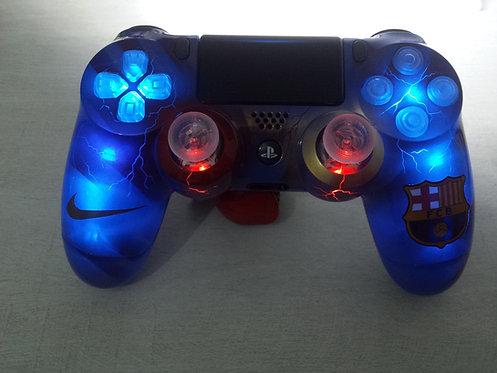 Manette PS4 Custom à l'aérographe !!! Dualshock 4 Sixaxis barcelone