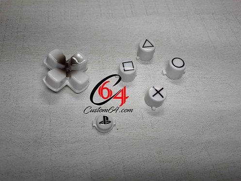 kit Boutons avec dessin des sigles manette PS4 peint à l'aérographe