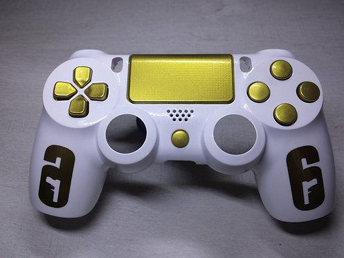 Coque Manette PS4 Custom à l'aérographe !!! Dualshock 4 Sixaxis ! R6