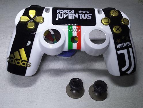 Coque Manette PS4 Custom à l'aérographe !!! Dualshock 4 Sixaxis ! juventus