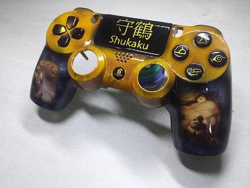 Coque Manette PS4 Custom à l'aérographe !!! Dualshock 4 Sixaxis ! Shukaku