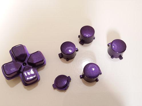 kit Boutons pour manette PS4 peint violet nacré