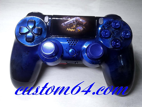 Manette PS4 sony blue metallic used