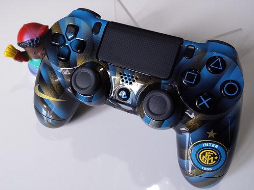 Manette PS4 Custom à l'aérographe !!! Dualshock 4 Sixaxis inter milan